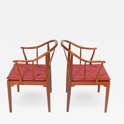 Hans Wegner Pair of Hans Wegner Chinese Chairs for Fritz Hansen 1982