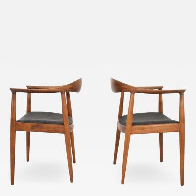 Hans Wegner Pair of Hans Wegner Round Chair The Chair by Johannes Hansen
