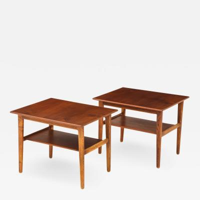 Hans Wegner Pair of Hans Wegner Side Tables for Johannes Hansen