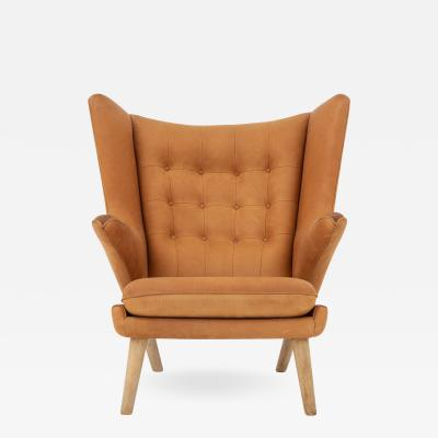 Hans Wegner Papa Bear Chair in leather
