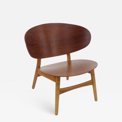 Hans Wegner Rare Danish Modern Teak Beech Chair Designed by Hans Wegner