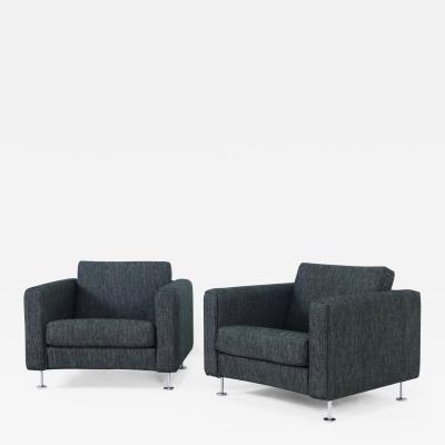 Hans Wegner Rare Pair of Scandinavian Modern Armchairs Designed by Hans Wegner