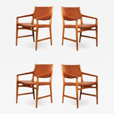 Hans Wegner Rare Set of Hans J Wegner Armchairs from Magasin du Nord