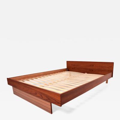 Hans Wegner Scandinavian Danish Modern Teak Queen Platform Bed