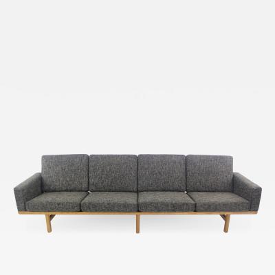 Hans Wegner Scandinavian Modern Four Place Box Arm Sofa Designed by Hans Wegner