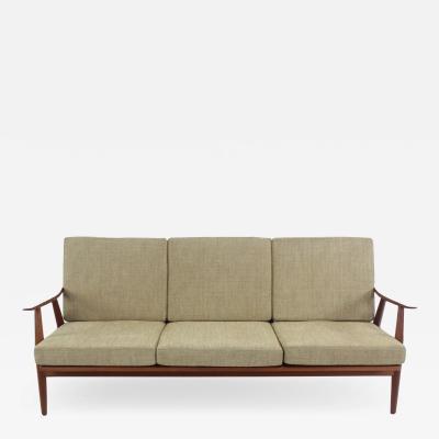 Hans Wegner Scandinavian Modern Solid Teak Sofa Designed by Hans Wegner