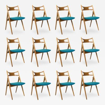 Hans Wegner Set of 12 Hans Wegner CH 29 Dining Chairs