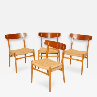Hans Wegner Set of 4 Hans Wegner CH 23 Dining Chairs