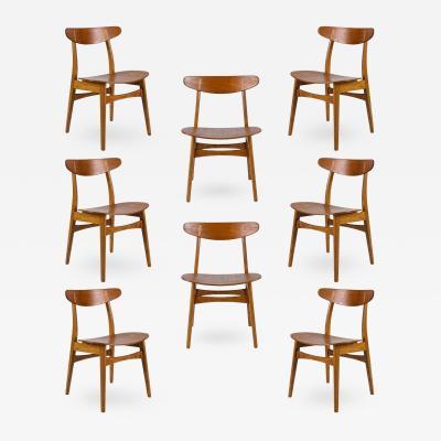 Hans Wegner Set of Eight Hans Wegner CH 30 Dining Chairs
