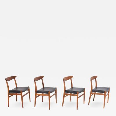 Hans Wegner Set of Four Hans J Wegner Side Chairs for C M Madsen