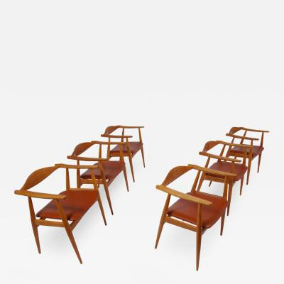 Hans Wegner Set of Six CH 35 Armchairs by Hans Wegner