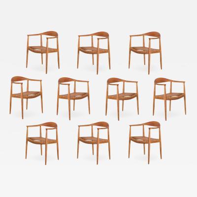 Hans Wegner Set of Ten Hans Wegner JH 501 Dining Chairs