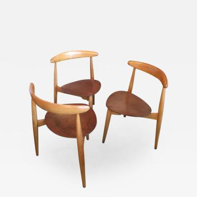Hans Wegner Set of Three Hans Wegner Chairs