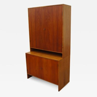 Hans Wegner Tall Teak and Oak Cabinet by Hans Wegner