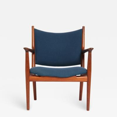 Hans Wegner Teak Lounge Chair by Hans J Wegner