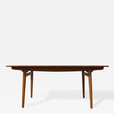Hans Wegner Teak Oak Dining Table by Hans Wegner for Andreas Tuck