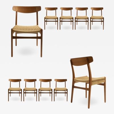 Hans Wegner Ten Hans Wegner ch23 Dining Chairs from Carl Hansen