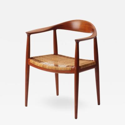 Hans Wegner The Chair a Round Chair in Teak with a Caned Seat