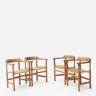 Hans Wegner Wegner PP 203 armchairs set of 4