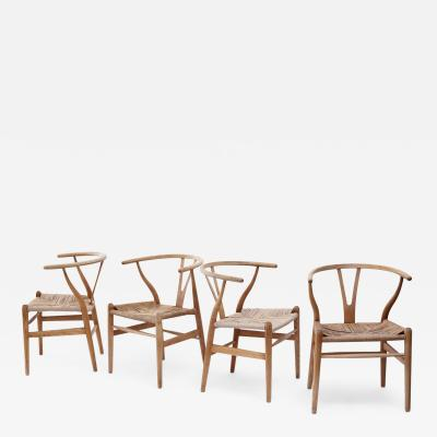 Hans Wegner Wishbone Armchairs by Hans Wegner