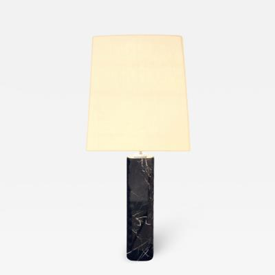 Hansen Lighting Table Lamp in Black Marble 1960s