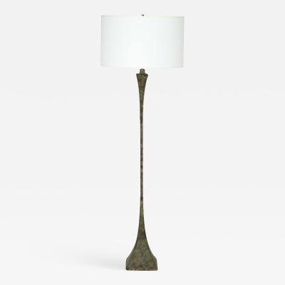 Hansen Patinated Bronze Floor Lamp by S R James France 1950s