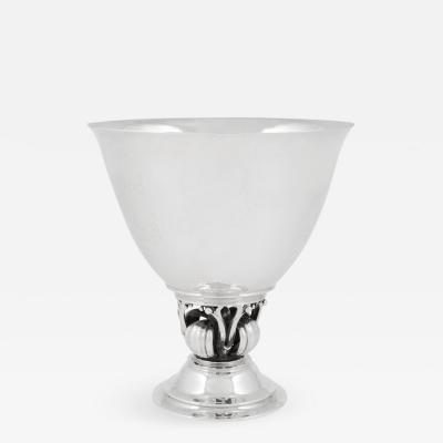 Harald Nielsen Georg Jensen Art Deco Bowl 445 by Harald Nielsen