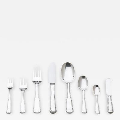 Harald Nielsen Georg Jensen Sterling Silver Eight Piece Flatware Service for Twelve