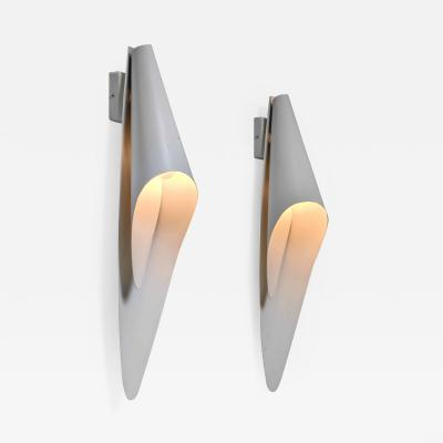 Harald Notini Pair of Bohlmarks metal wall lamps