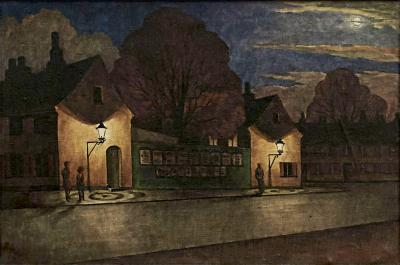 Harald Rudyard Engman Nyboder at Night Time Harald Engman