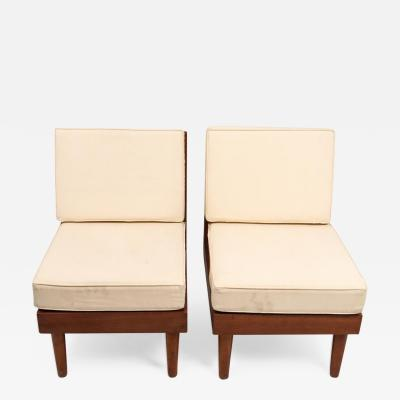 Harold Rockwood Pair of New Hope Style Lounge Chairs