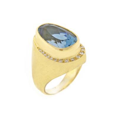 Haroldo Burle Marx Burle Marx Blue Topaz and Diamond Ring