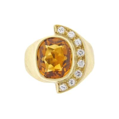 Haroldo Burle Marx Burle Marx Citrine and Diamond Ring