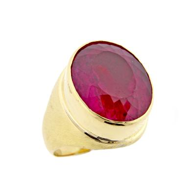 Haroldo Burle Marx Burle Marx Large Pink Tourmaline Ring