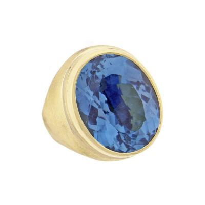 Haroldo Burle Marx Burle Marx Oval Blue Topaz Ring