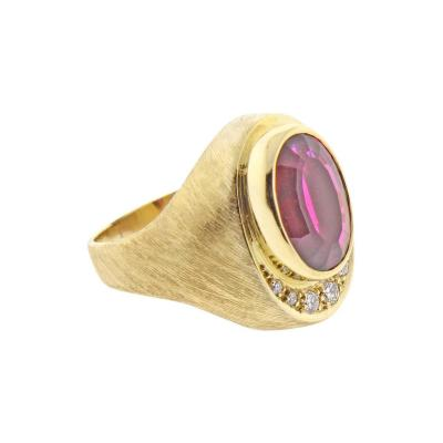 Haroldo Burle Marx Burle Marx Rubellite Tourmaline and Diamond Ring