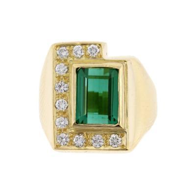 Haroldo Burle Marx Burle Marx Tourmaline Diamond Gold Cocktail Ring