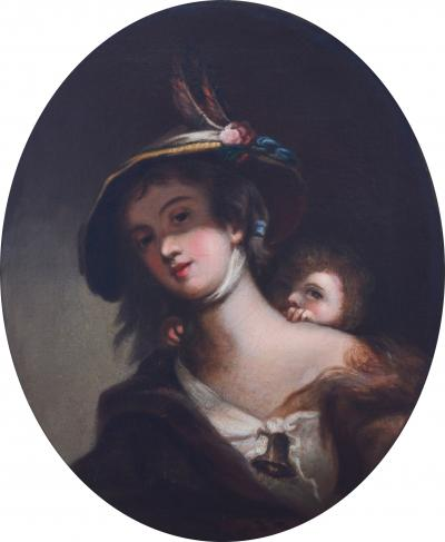 Harriet Cany Mrs Rembrandt Peale Girl with Bonnet