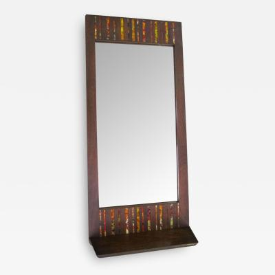 Harris Strong Stunning and Rare Harris Strong Tile Mirror with Shelf Mid century Modern