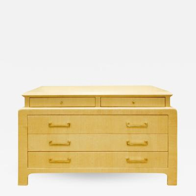 Harrison Van Horn Harrison Van Horn Chest of Drawers in Lacquered Linen 1970s