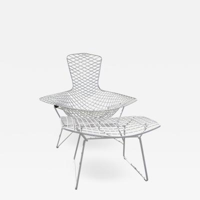 Harry Bertoia Bird Chair and Ottoman by Harry Bertoia for Knoll