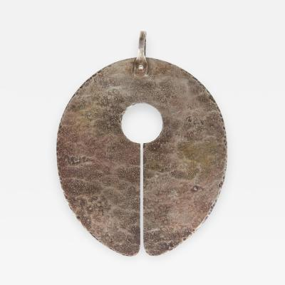 Harry Bertoia Exceptional Harry Bertoia Silver Gong Pendant
