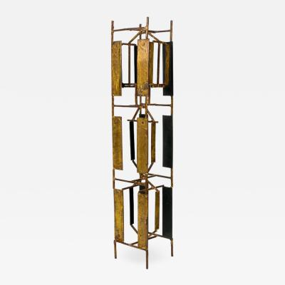 Harry Bertoia Harry Bertoia Brass Melt Coat Panel Sculpture Maquette for Bank in NYC 1950s