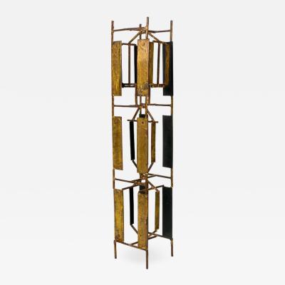 Harry Bertoia Harry Bertoia Brass Melt Coat Panel Sculpture Maquette for Bank in NYC 1950s