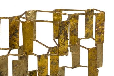 Harry Bertoia Harry Bertoia Brass Melt Coated Multi Plane Panel Sculpture