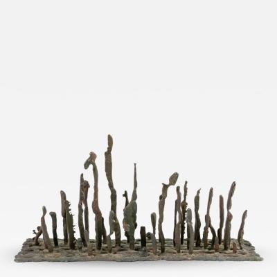 Harry Bertoia Harry Bertoia Early Bronze Platform Sculpture USA 1950s