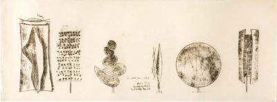 Harry Bertoia Harry Bertoia Framed Monoprint on Rice Paper