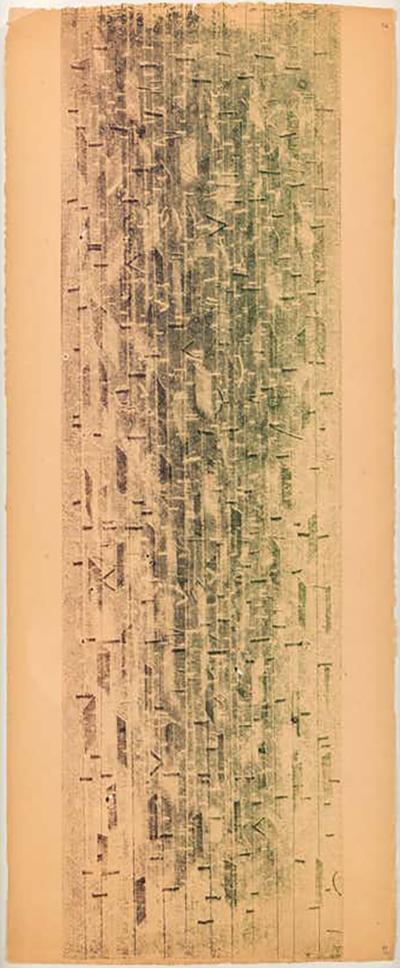 Harry Bertoia Harry Bertoia Framed Monoprint on Rice Paper USA 1960s