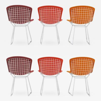 Harry Bertoia Harry Bertoia Wire Chairs for Knoll International Early Production Set of Six