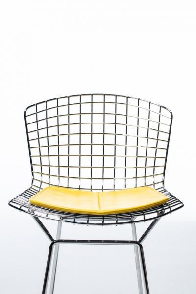 Harry Bertoia Harry Bertoia for Knoll Bar Stools in Custom Italian Parker Hotel Style Cushions
